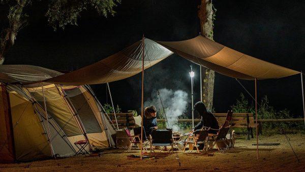 Camping en toilet
